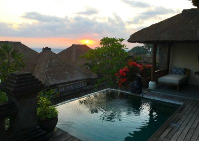 Dawn. Jimbaran Bay Villa, Four Seasons Resort Bali at Jimbaran Bay.
