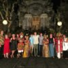 Group shot (with Balinese dancers), final night royal dinner, Ubud, Bali