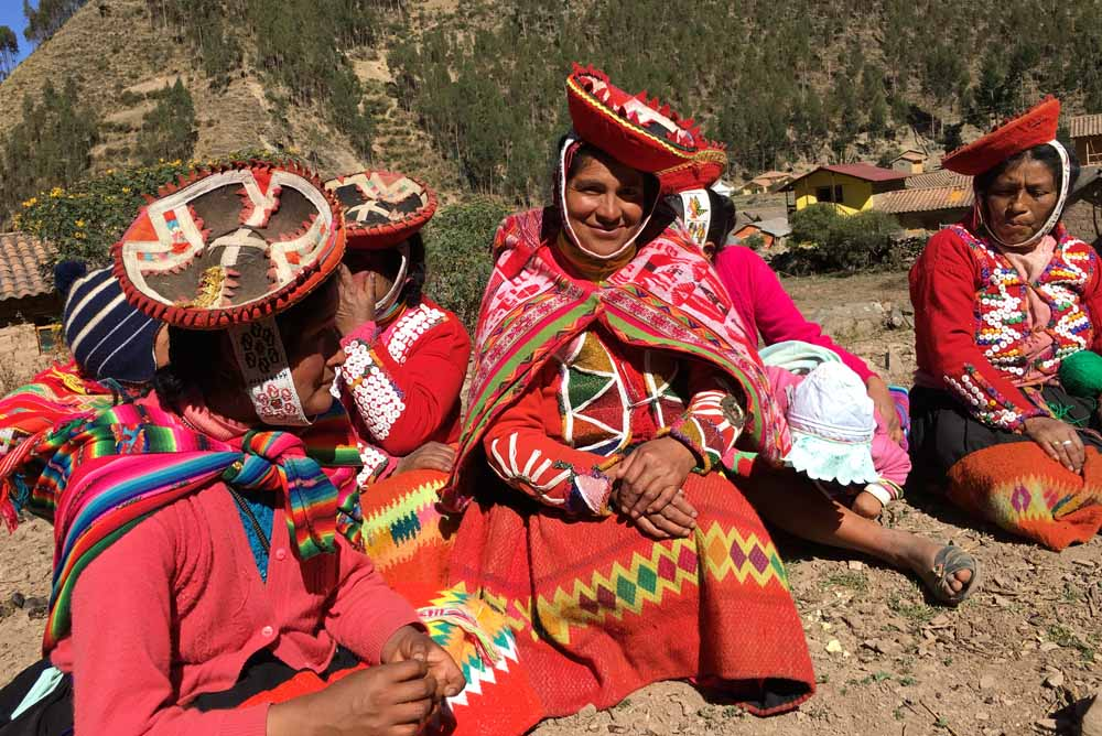 Local women, community of Huilloc, Andes Mountains, Peru