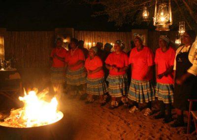 Londolozi Ladies Choir, Boma Dinner, Londolozi, South Africa