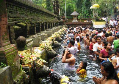 Melukat Ceremony, Tirta Empul Temple, Bali