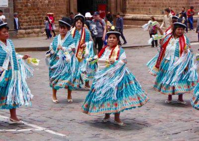 Peruvian dancers, Cuzco, Peru