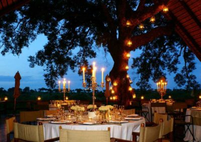Princess Alice Theme dinner, Varty Camp Deck, Londolozi Private Game Reserve