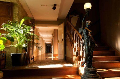 Quinta da Auga Hotel & Spa Hallway. Santiago de Compostela, Spain.