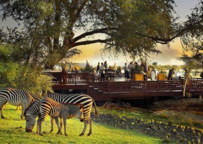 Sun Deck, Royal Livingstone Hotel, Zambia