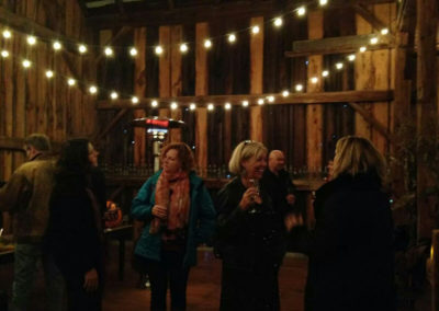 Cocktails in the barn, Brooklands Farm, Muskoka
