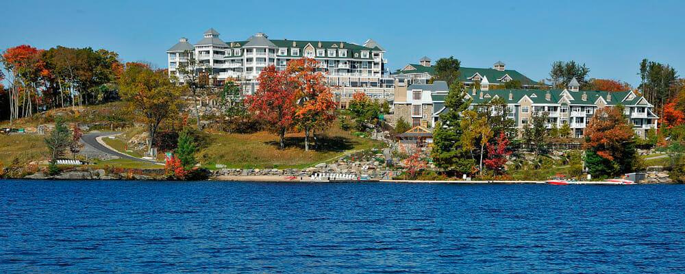 JW Marriott The Rosseau Muskoka Resort & Spa view from Lake Muskoka