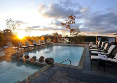 Poolside at sunset, JW Marriott The Rosseau Muskoka Resort & Spa