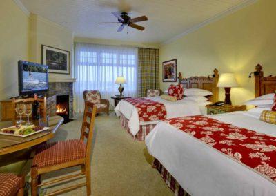 Queen bedroom at the JW Marriott The Rosseau Muskoka Resort & Spa