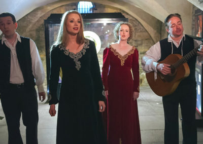 Medieval musical performance, private reception, Crypt of Christ Church Cathedral, Dublin