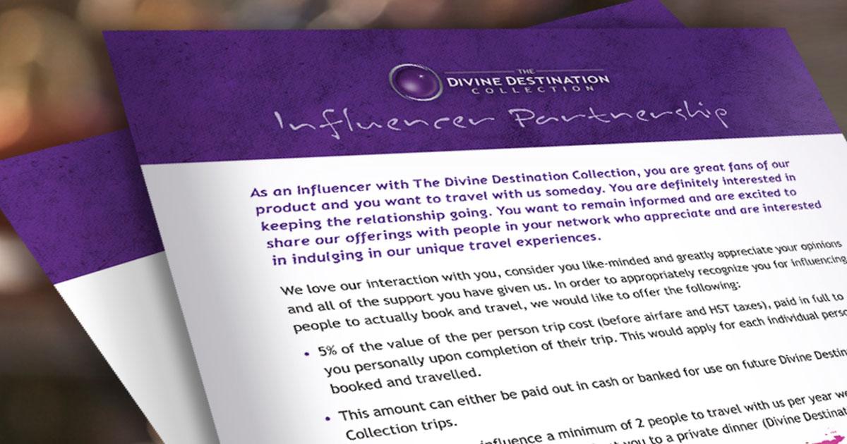 Become a Divine Influencer - facebook