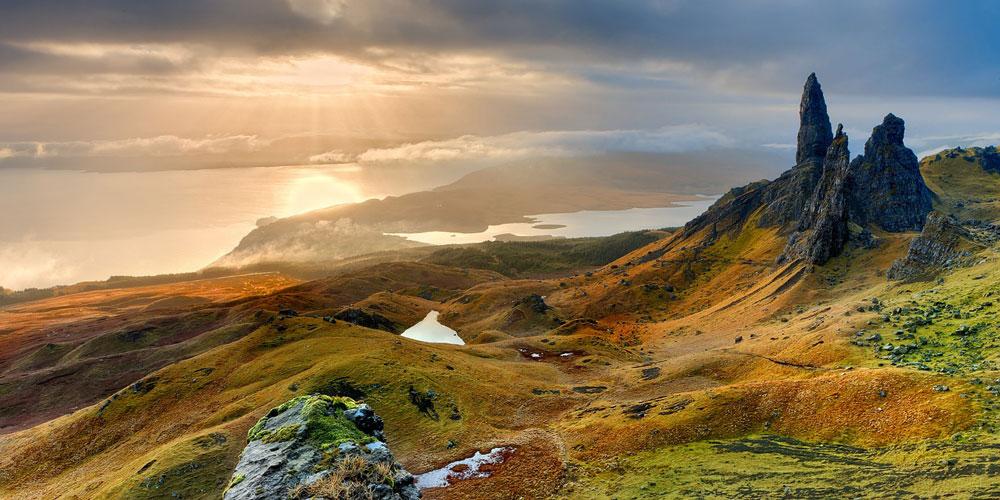 Beautiful Scottish landscape, Isle of Skye