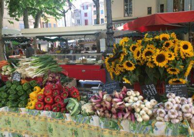Market in Aix en Provance, France