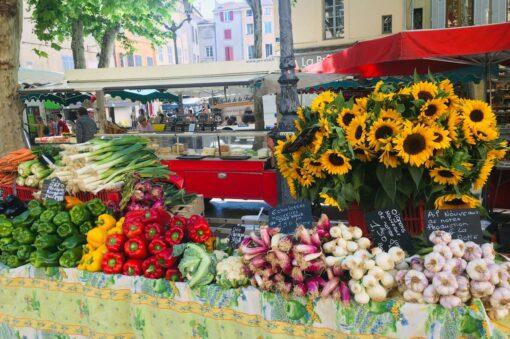 Aix en Provence market, France