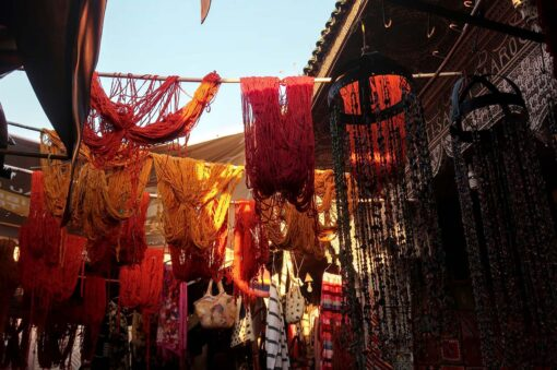 Wool hanging in Souk, Marrakech