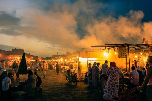 Djemaa bazaar at night Marrakesh, Morocco
